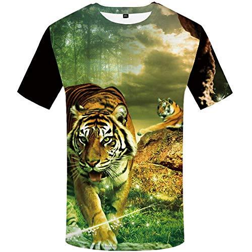 Herren Damen T-Shirt 3D Druck Kurze Ärmel Grafik T Shirts Männer Lin Zhonghu T-Shirt Männer 3DT Shirt Kurzarm Rundhals Digitaldruck lässig Kurzarm-Color_4XL