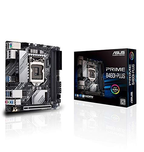 Prime B460I-PLUS Carte mère Intel® B460 (LGA 1200) Mini-ITX avec en-tête RGB Aura Sync M.2, DDR4 2933 MHz, HDMI, DisplayPort, USB 3.2 Gen 1 Ports, Intel® Optane Memory Ready, SATA 6 Gbps