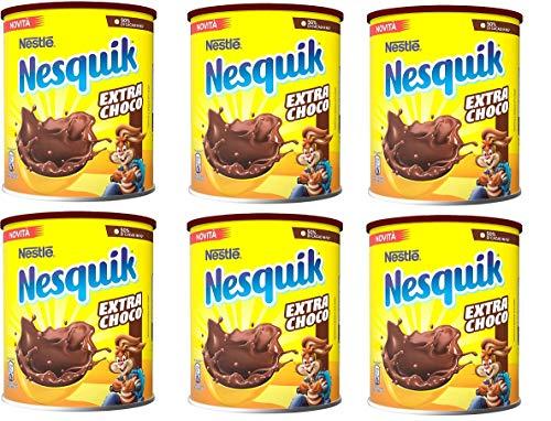 6x Nesquik Extra Choco Cioccolato Solubile lösliche Schokolade von Milch 390 g