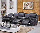 3er Kino Sessel aus Leder mit italienischer Eleganz - 2
