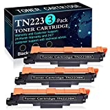3 Pack Black HL-L3210CW HL-L3230CDW HL-L3230CDN HL-L3270CDW HL-L3290CDW MFC-L3710CW MFC-L3730CDW MFC-L3750CDW MFC-L3770CDW DCP-L3510CDW DCP-L3550CDW Printers Replacement for Brother TN223BK Toner