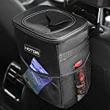 HOTOR Car Trash Can with Lid and Storage Pockets, 100% Leak-Proof Car Organizer, Waterproo...