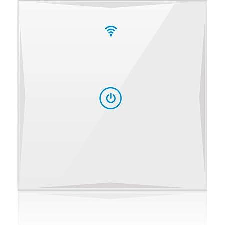 Alexa Smart Lichtschalter Sainko 1 Weg Wlan In Wall Gehärtetes Glas Touchscreen Schalter Arbeitet Mit Amazon Alexa Und Google Home Timing Funktion Überlastungsschutz 1 Weg Baumarkt