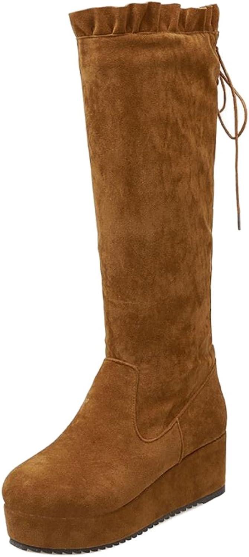 KemeKiss Women Winter Warm Platform shoes Mid Calf Boots