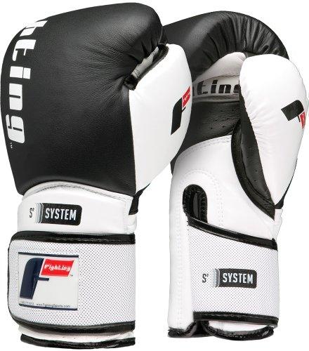 Fighting Sports S2 Gel Power Bag Gloves, Black/White, 14 oz