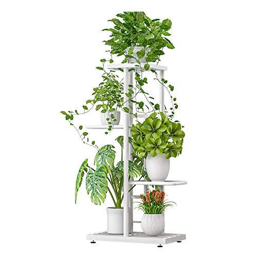 Galapara Metal Plant Stand Estantes de Flores, Estante de exhibición de 4 Niveles Estante para macetas Soporte para Plantas Escalera para macetas Soporte para macetas Estante de Almacenamiento