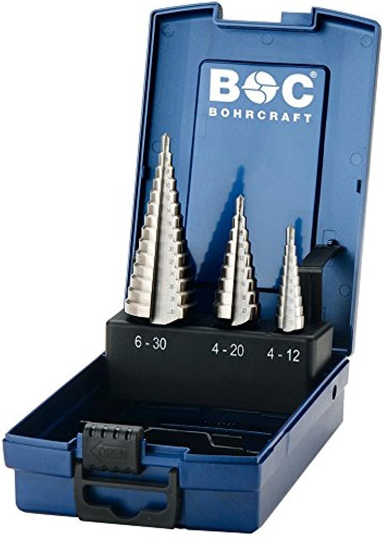 Bohrcraft Stufenbohrer Set HSS-G HSS-G HSS-G in ABS-Box STB3-K Ø 4,0-30,0 mm   3-teilig   17601330003 B00ELDFCQY | Klein und fein  4bb88a