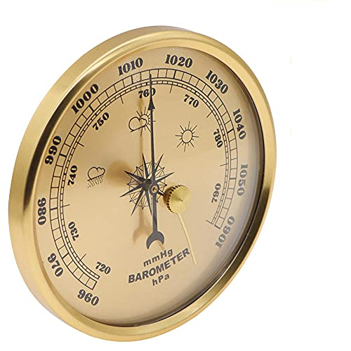 NFRADFM Barometro termometro igrometro,Gauge Wall Hanging Barometer,Meteo Stazione Barometro Famiglie Strumenti