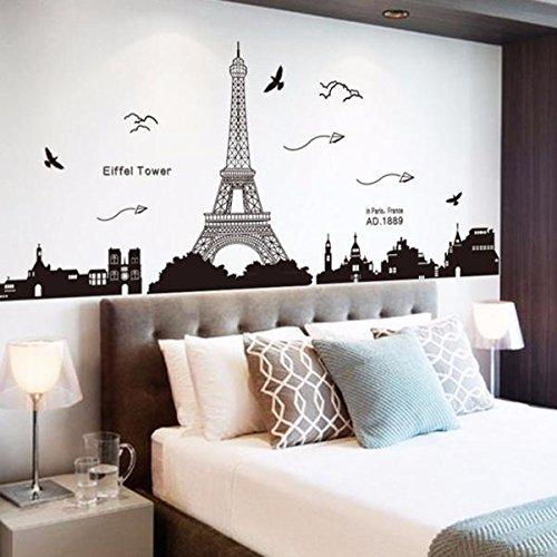 Gaoqi Torre Eiffel decoración extraíble ambientalmente Mural Pegatinas de Pared calcomanía