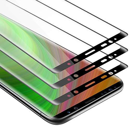 Cadorabo 3X Vollbild Panzerglasfolie für Samsung Galaxy Note 8 - Schutzfolie in TRANSPARENT mit SCHWARZ - 3er Pack Gehärtet (Tempered) Bildschirmschutz Glas in 9H Festigkeit mit 3D Touch