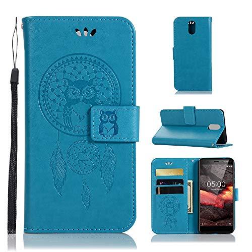 jbTec Handy Hülle Hülle Traumfänger - Handyhülle Schutzhülle Phone Cover Tasche Handytasche Zubehör Smartphone Flip, Farbe:Türkis, passend für:Nokia 3.1