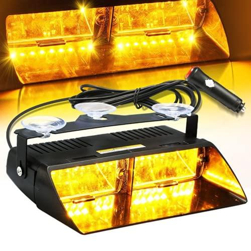 16 luces estroboscópicas de alta intensidad LED, se utilizan ventosas para el tablero de parabrisas de techo interior de vehículos y camiones
