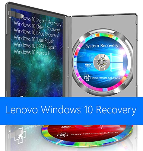 Lenovo Windows 10 Pro & Home System Recovery Restore Reinstall Repair Boot Disc + Driver DVD 32 Bit