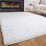 Gorilla Grip Premium Fluffy Area Rug, 4x6 Feet, Super Soft High Pile Shag Carpet, Washable Indoor Modern Rug for Floor, Luxury Carpet for Home, Nursery, Bedroom, Living Room, White