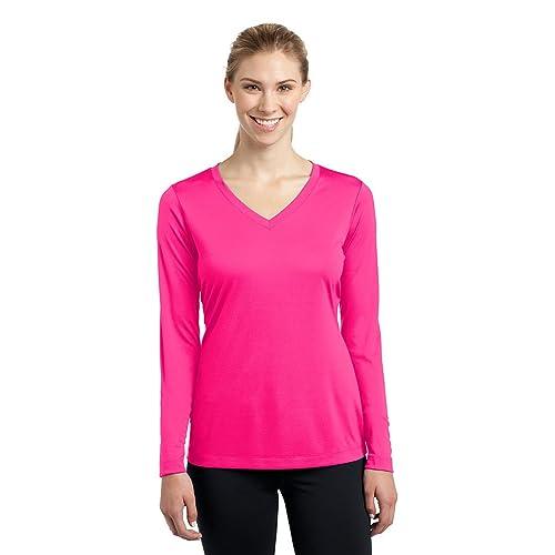 dbe29384d07 Dri-Wick Women's Sport Performance Moisture Wicking Athletic Long Sleeve  Shirt