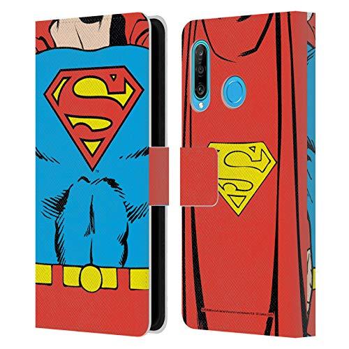 Head Case Designs Oficial Superman DC Comics Disfraz clsico Logotipos Carcasa de Cuero Tipo Libro Compatible con Huawei P30 Lite/Nova 4e