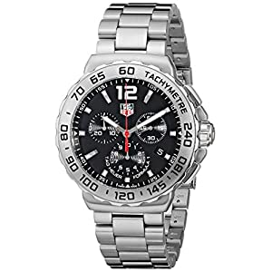 Tag Heuer Formula 1 Chronograph Black Dial Stainless Steel Mens Watch CAU1112.BA0858 image