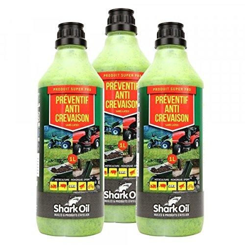 Préventif anti crevaison Shark Oil OKO super pro 1 litre par 3 - Pièce neuve
