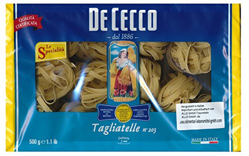 De Cecco Tagliatelle n° 203 6 x 500g = 3000g