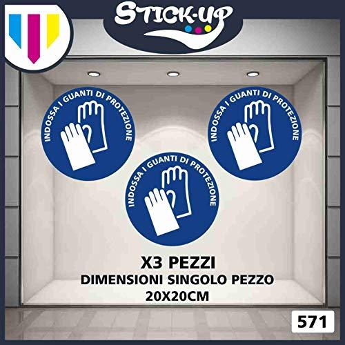 Stick-up Stickers Kit bollini Adesivi Covid19 Indossare GUANTI-20x20 cm-Adesivo plastificato per Esterni e Interni.Adesivi Misure da intraprendere Contro coronavirus (6) (3)