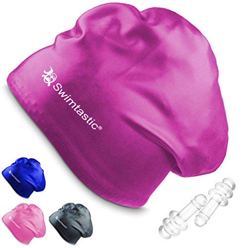 Swimtastic, Cuffia Da Nuoto Per Capelli Lunghi, Appositamente Progettata Per Nuotatori Con Capelli Lunghi, Spessi, O Ricci, Purple