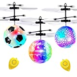 3 Pack Flying Ball Kids RC Toys, Holiday Toy Christmas Gifts for Boys Girls Hand Operated Helicopter Light Up Ball Mini Drone Hover Ball Remote Control Indoor Outdoor Sports Game Toys for Boys