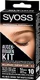SYOSS Augenbrauen-Kit permanente Augenbrauenfarbe 5-1 Hellbraun, natürlicher Look, 1er Pack (1 x 17...
