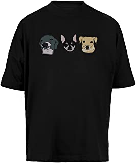Jennas Perros Unisex Camiseta Holgada Hombre Mujer Mangas Kortas - Unisex Baggy T-Shirt Black