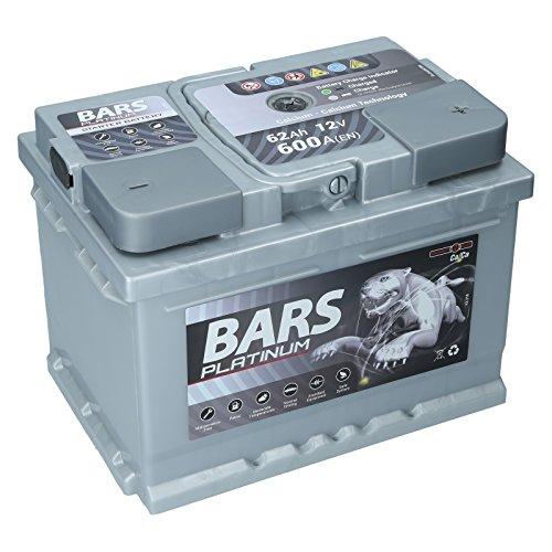 Autobatterie 12V 62Ah 600A Bars Platinum Starterbatterie Wartungsfrei