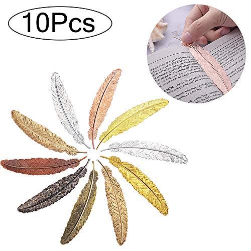 Marcadores de plumas de metal, 10 marcadores de plumas no porosas y marcadores de plumas perforadas, textura metálica, fina y duradera. Un regalo para estudiantes y escritores, también como recuerdo