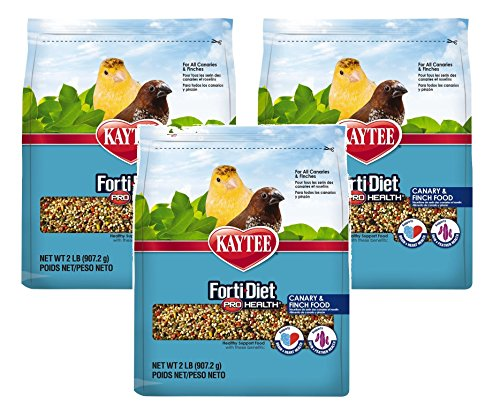 (3 Pack) Kaytee Forti-Diet Pro Health Canary and Finch Food, 2 Pounds Per Pack