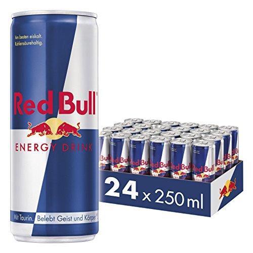 Red Bull Energy Drink 24 x 250 ml OHNE Pfand Dosen Getränke, 24er Palette