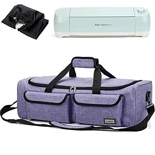 HOMEST Carrying Case Compatible with Cricut Explore Air 2, Cricut Maker, Silhouette CAMEO3, Purple (Patent Design)