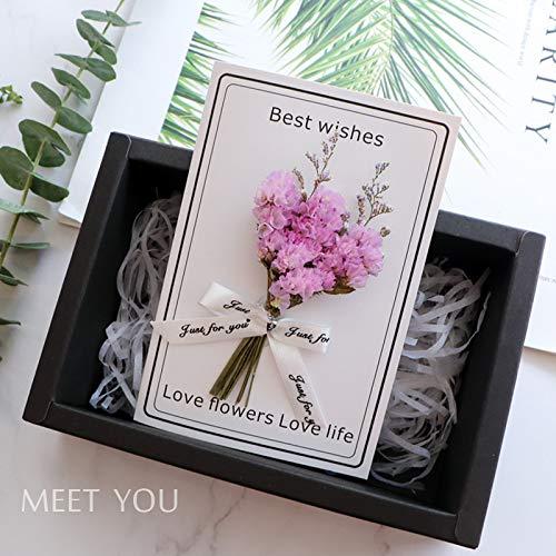 Romantische MäDchengeburtstagskarte, Blumen- Und Puppengeburtstagskarte, SchöNe Geburtstagskarte, Trockene BlumengrußKarte, GrußKarte 20 * 15Cm