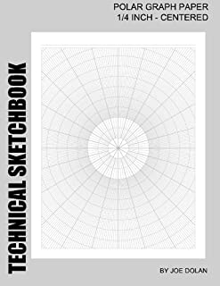 Technical Sketchbook: Polar Graph Paper - 1/4 Inch Centered: Designed For Engineers and Designers