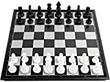 ZoneYan Ajedrez Magnetico, Ajedrez Internacional, Tablero De Ajedrez Plegable, Juego de Ajedrez Magnetico, Chess Game Set para Niños y Adultos, Juegos al Aire Libre o Regalos