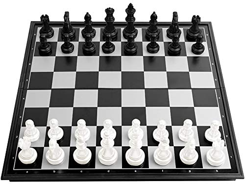 Schachspiel, ZoneYan Schachspiel Magnetischem, Chess Game, Schachbrett Magnetisch Kinder, Schachbrett Magnetisch, Klein Schach Mit Klappbar Kunststoff für Kinder und Erwachsene