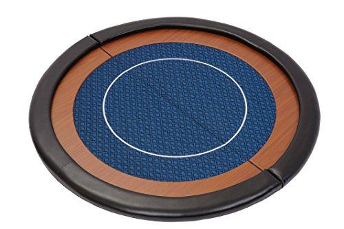 Riverboat Gaming Kompakte Faltbare Pokerauflage mit wasserabweidenden Stoff und Tasche – Blau Pokertisch 120cm - 5