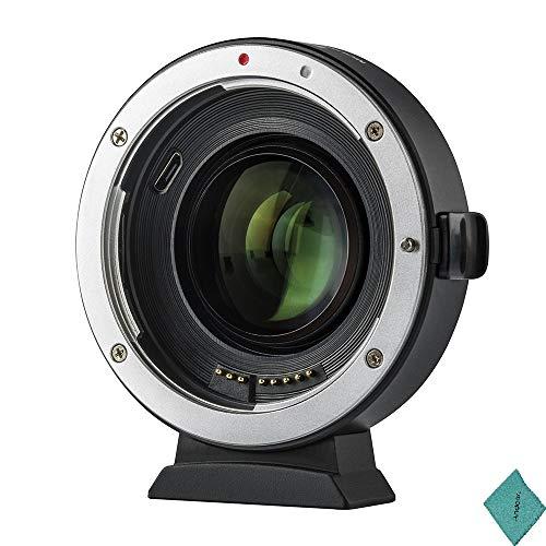 Viltrox EF-EOS M2 - Adaptador de montura de lente de enfoque automático de 0,71 x lente focal multiplicador USB para Canon EF Series Lens a EOS EF-M cámara sin espejo para Canon EOS M/M2/M3/M5