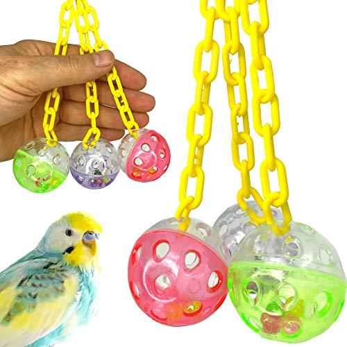 Bonka Bird Toys 1467 Ball Clanger Plastic Colorful Noisy Rattle Parrot Parrotlet Parakeet Budgie