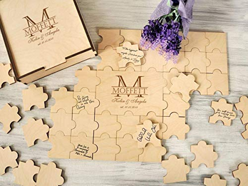 Puzzle Piece Wedding Guest Book Alternative