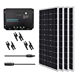 Renogy 400 Watt 12 Volt Monocrystalline Solar Panel, 400W PWM, Bundle Kit with 30A Negative ground Charge Controller
