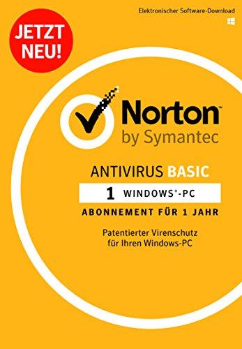 Norton Antivirus Basic 2018 | 1 Gerät | 1 Jahr | PC | Download, Aktivierungscode per Post