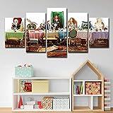 Hd Imprimé Alice Au Pays Des Merveilles Groupe Peinture Toile Print Room Decor...