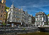 N\A 1000 Pieces Puzzle Czech Republic Houses Karlovy Vary Canal Street Children Games Jigsaws Jigsaw For Kid Adult Jigsaw Puzzle