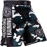 Hardcore Training Recruit Fight Shorts Hombre Pantalones Cortos MMA BJJ Boxeo Grappling Fitness No Gi (Camouflage Green, XXL)