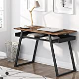 Tribesigns Escritorio, Mesa de Ordenador pequeña, Mesa de Oficina, Mesa de Estudio, Montaje Simple, Diseño Industrial, 100x50x75cm