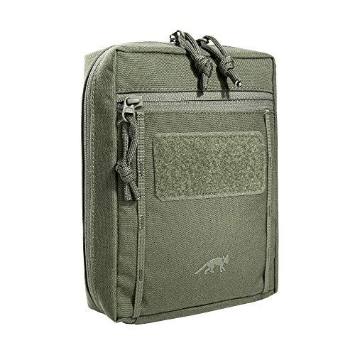 Tasmanian Tiger TT Tac Pouch 6.1 Rucksack Zusatz-Tasche mit Patch Klett-Fläche Molle-System kompatibel, Zubehör-Tasche für EDC, Werkzeug oder kleine Erste Hilfe Sets, 20 x 15 x 6 cm, Olive
