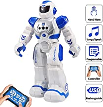 Sikaye RC Robot for Kids Intelligent Programmable Robot with Infrared Controller Toys, Dancing, Singing, Led Eyes, Gesture Sensing Robot Kit, Blue