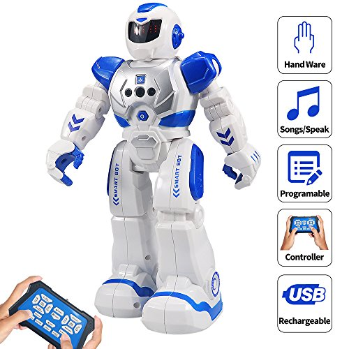 Sikaye RC Robot for Kids Intelligent Programmable Robot with Infrared Controller Toys, Dancing,...